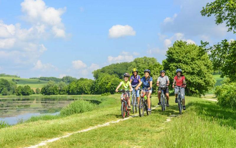 Urlaub mit Fahrrad an der Elbe