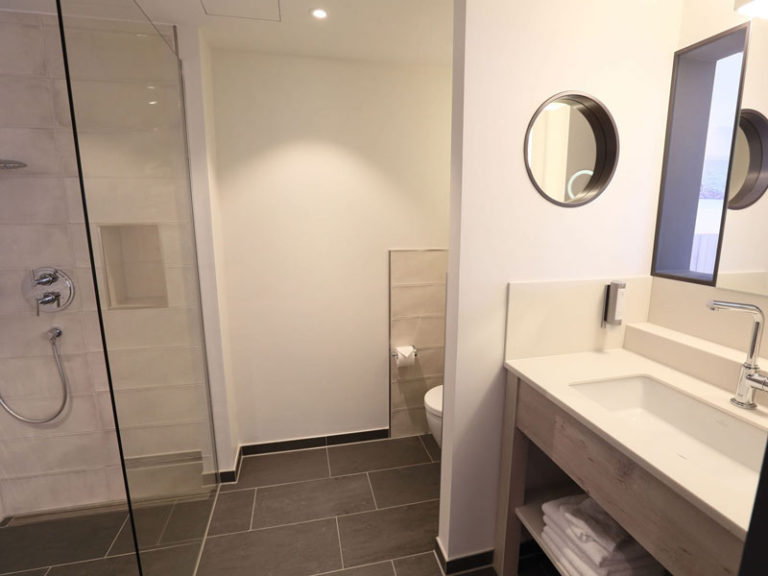 Komfortzimmer mit Elbblick Badezimmer