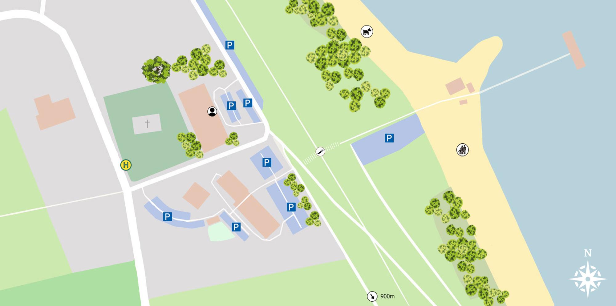 Interaktiver Lageplan vom Elbstrand Resort