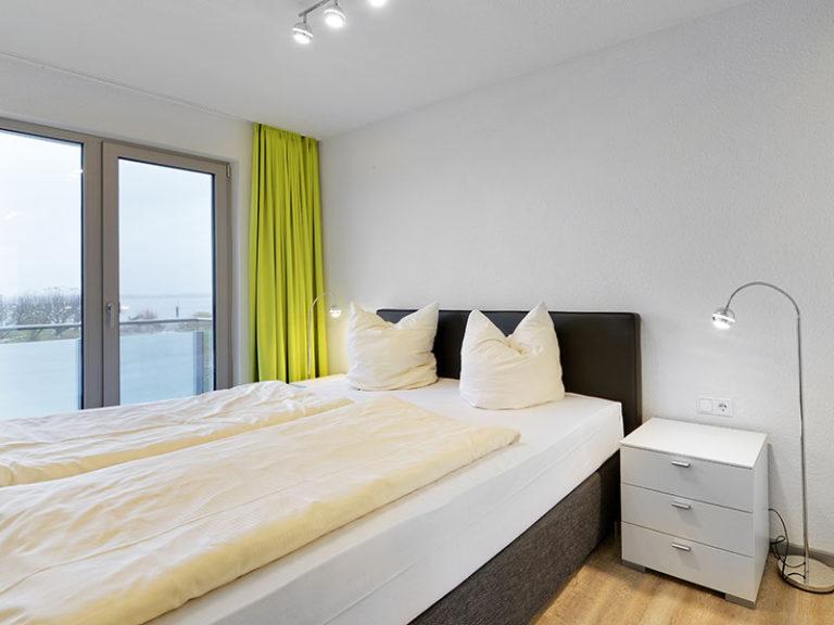Ferienwohnung D4 R3 Schlafzimmer mit Doppelbett
