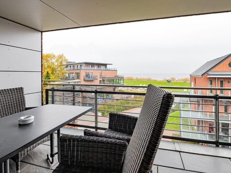 Ferienwohnung D5 R3 Balkon