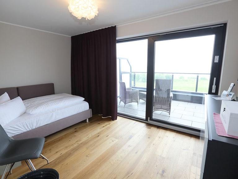 Admiral Suite Schlafzimmer mit Balkon