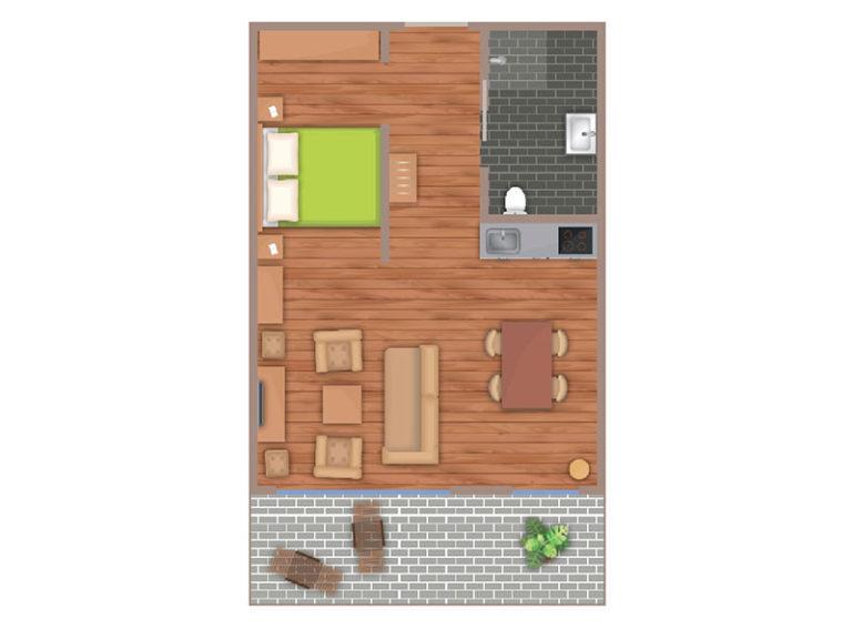 Bootsmann Suite Grundriss