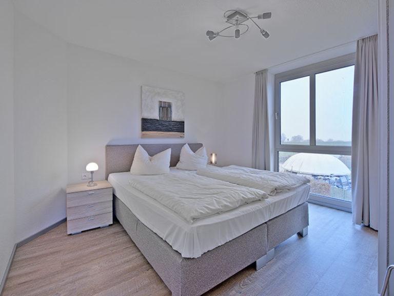 Ferienwohnung D3 R3 Schlafzimmer mit Doppelbett